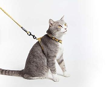 Touchdog TOUCHCAT Harnais réglable et laisse pour chat en maille souple