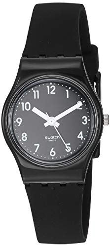 Swatch Women's New Core Quartz Silicone Strap, Black, 12 Casual Watch (Model: LB170E)