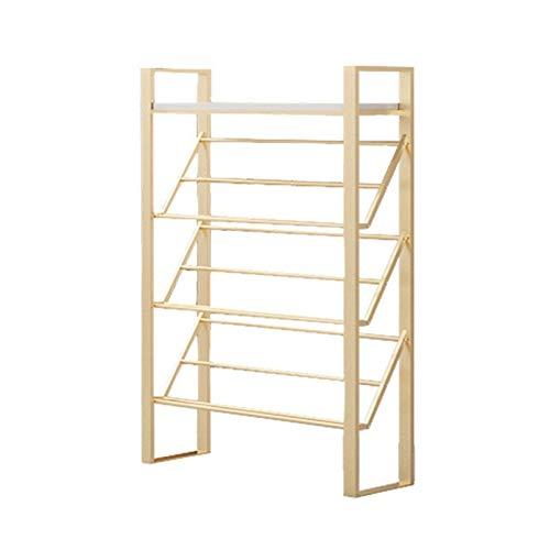 Zapatero Estantes de almacenamiento de metales para zapatos de 4 niveles para la sala de estar Entrada de entrada y guardarropa Buena capacidad de soporte de carga Organizador de almacenamiento Estant