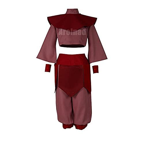 ULLAA Disfraz de Cosplay de Ty Lee Ropa de elemento tradicional de Anime Avatar The Last Airbender para Anime Exposición Fiesta de Halloween