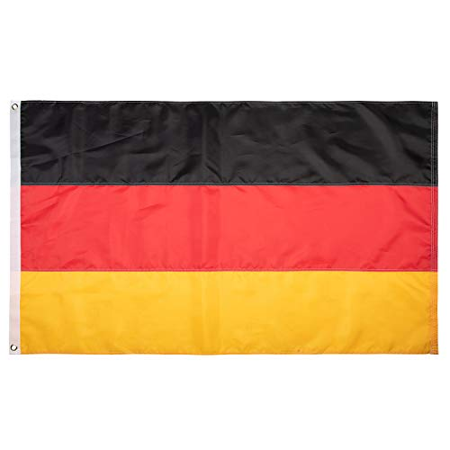 Lixure Deutschland Flagge/Fahne Premium Qualität für Windige Tage 90x150cm Nationalflagge-Durable 210D Nylon Draußen/Drinnen Dekoration Flagge MEHRWEG