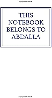 This Notebook Belongs to Abdalla