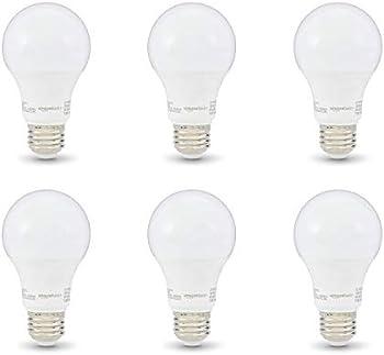6-Pack AmazonBasics 40W Equivalent Lifetime A19 LED Light Bulb