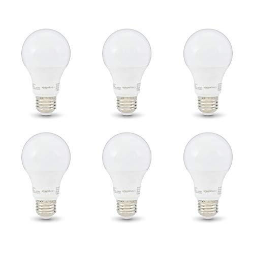 Amazon Basics 40W Equivalent, Soft White, Non-Dimmable, 10,000 Hour Lifetime, A19 LED Light Bulb | 6-Pack