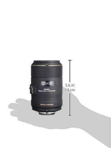 Sigma 105mm F2.8 EX DG OS HSM Macro Lens for Nikon DSLR Camera