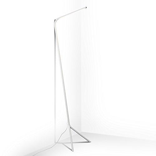 QAZQA Design vloerlamp wit incl. LED - Lazy Lamp Metaal Langwerpig LED inbegrepen Max. 1 x 12 Watt