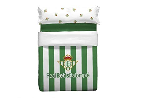 NEW IMPORT Funda nórdica 2 Piezas Real Betis Balompié. 100% algodón (Cama 90)