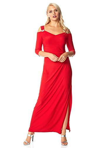 Roman Originals Women Cold Shoulder Diamante Trim Maxi Dress - Ladies...