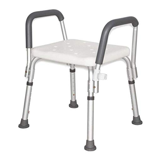 NBVCX Furniture Decoration Lightweight Height Adjustable Shower Stool Bathroom Seat Shower Chair Bathing Aid for Elderly Disabled Handicapped Bath Seat Bench