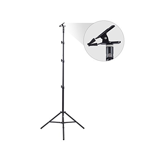 Fovitec 8'3' Heavy Duty Spring Cushioned Collapsible Background Stand Kit with Clamp...
