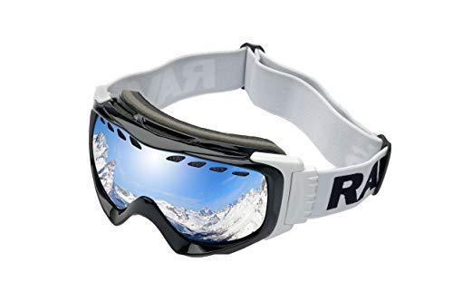 Alpland RAVS by Snow SKI Alpin Skibrille SNOWBOARDBRILLE - Goggle - Allwetter Lens- Kontrastverstärkt HELMKOMPATIBEL