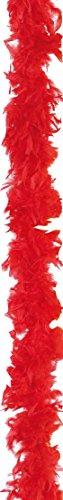 4U-Onlinehandel 6301965-STD - Boa de Plumas (1,80 m, Aprox. 60 g), Color Rojo