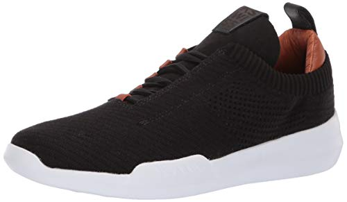 K-Swiss Men's Gen-K Icon Knit CEO Sneaker, Black/Leather Brown/White, 9 M US