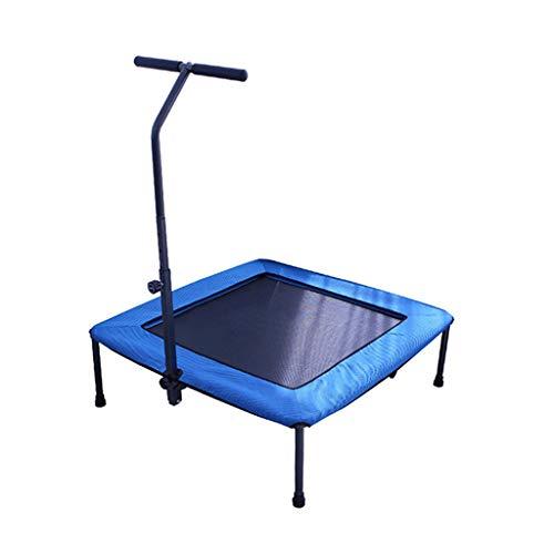 Volwassen sporttrampoline - Draagbare trampoline - Handrail Verstelbaar - Elastische touwstijl - Stille - Maximale belasting 100kg