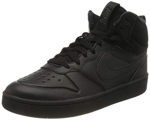 Nike Unisex Kinder Court Borough MID 2 Boot (GS) Sneaker, Black/Black-Black, 38 EU