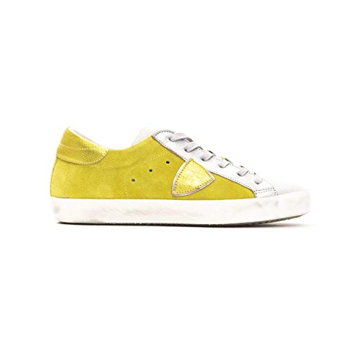 Philippe Model Sneakers Paris L DMIXAGE Scarpa 100% Pelle Made in Italy Donna CLLDXY27 (Giallo, Numeric_40)