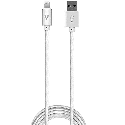 vCharged 12 FT Longest MFi Certified Lightning Cable Nylon Braided USB Charging Cord Compatible with iPhone & iPad