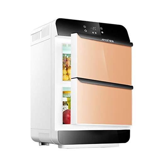Refrigerador pequeño en el vehículo de 28L, dormitorio doméstico pequeño, dormitorio, casa de automóvil, sistema de refrigeración para estudiantes de doble uso, uso doble horizontal y vertical