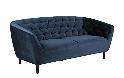 Bank Rita 3 personen marineblauw zwart bank woonkamer gestoffeerde sofa set