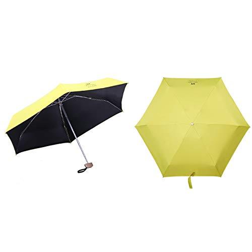 Umbrella Seven-Bone Umbrella Stand UV Protection 5 Fold Ultra Light Rain Dual-use Umbrella Color : D