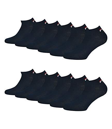 Fila® 6 Paar Socken, Invisible Sneakers Unisex, 35-46 Einfarbig - Farbenauswahl: Farbe: Marine | Größe: 43-46 (9-11 UK)