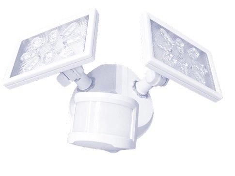 Aluminum Outdoor LED Security Motion Sensor Light 180° Dusk to Dawn 2247 Lumen UL Certified Waterproof 25W 200W Incandescent Equiv Patent Par Lens Entryways White