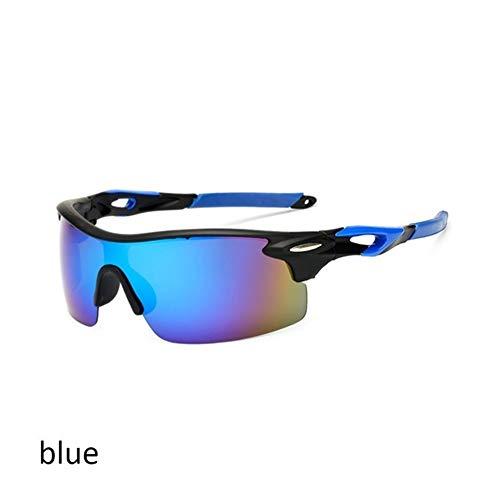 YUMUYMEY Skibrille Polarisiert Skilanglauf Brille Polarisierende Reitbrillen Skibrille Sport-Sonnenbrille (Farbe : Blau)