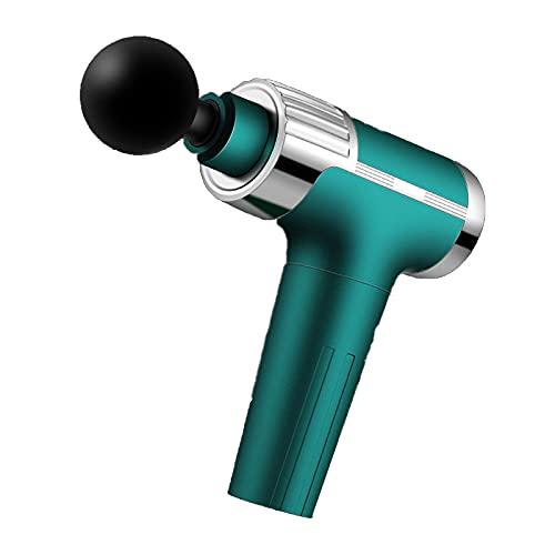 KDMB Pistola de Masaje Carga USB Pistola de Fascia silenciosa de 30 velocidades El masajeador de relajación Muscular Profunda Puede Satisfacer Diferentes Necesidades Ligero y fácil de llevarC