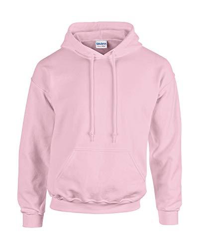 Gildan Herren Adult 50/50 Cotton/Poly. Hooded Sweat Sweatshirt, Gr. S, LightPink