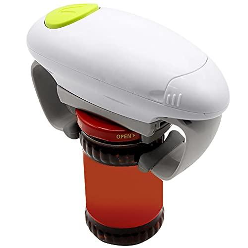 Abrelatas eléctrico, abrelatas automáticas para Utensilios de Cocina, abrelatas de un Solo botón, sin Necesidad de Abrir latas manualmente
