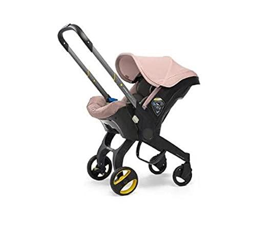 HZPXSB Cochecito de Seguridad para bebé 3 en 1 Bebé recién Nacido Cuna de Cuna Tipo de Seguridad Asiento de Seguridad Corredor Cesta de Carro (Color : Light Pink)