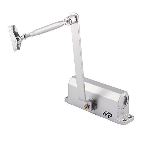 Claking - Cierrapuertas automático ajustable de metal, montaje de cierre de puerta antifuego, velocidad ajustable, hidráulica, control con tornillo hasta 45 kg/80 kg (60-80 kg)
