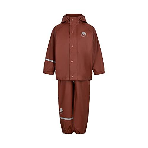 Celavi Unisex Kinder Basic Rainwear Set-solid PU Regenjacke, Tortoise Shell, 120
