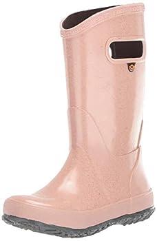 Bogs Rainboot Print Waterproof Rain Boot Glitter-Rose Gold 5 US Unisex Big Kid