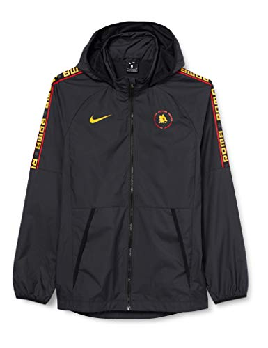 NIKE Roma M NK Awf LTE Jkt Sport Jacket, Hombre, Black/Black/University Gold no Sponsor, XL