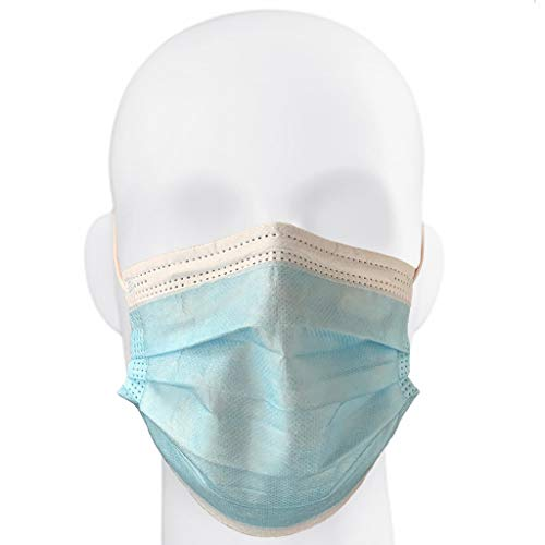 ChromaCast Defense Face Mask - 100 Pack, 3-Ply Disposable Work Bench Face Masks w Ear Loops