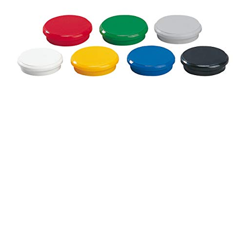 Dahle - Imán (24 mm, 10 unidades), multicolor