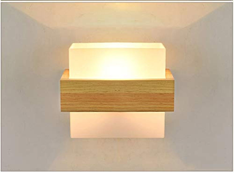 Europische wandleuchte einfache led wohnzimmer dekoration wandleuchte kreative studie schlafzimmer hotel nachttisch massivholz wand lampwall lampe