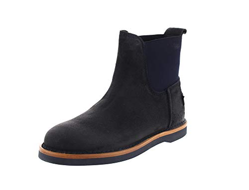 Shabbies Amsterdam Ankle Boot Waxed Suede Dark Blue