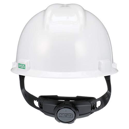 MSA-475358 White V-Gard Polyethylene Cap Style Hard Hat With 4 Point RatchetRatchet Suspension