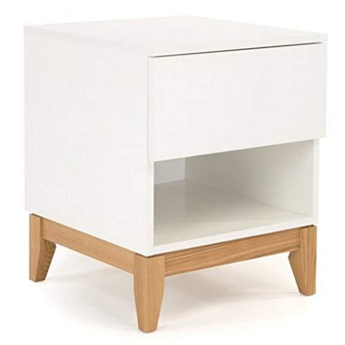 Paris Prix - Table De Chevet Design Blanco 55cm Blanc