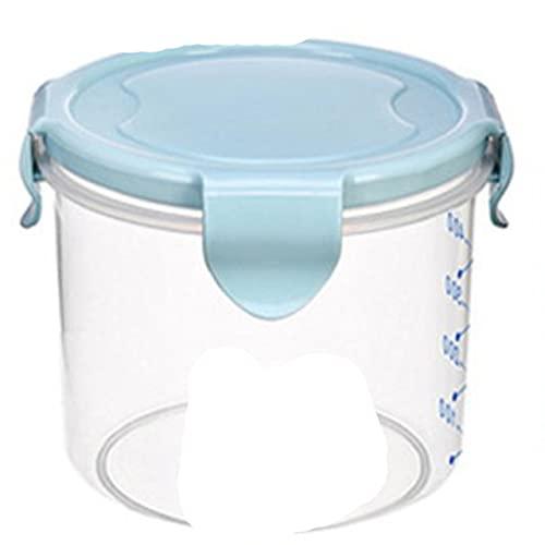 Caja de almacenamiento de alimentos multifunción Espagueti Arroz Frijoles Grano Contenedor de alimentos secos Refrigerador Organizador de cocina Estuche de almacenamiento - Azul 600ml, L
