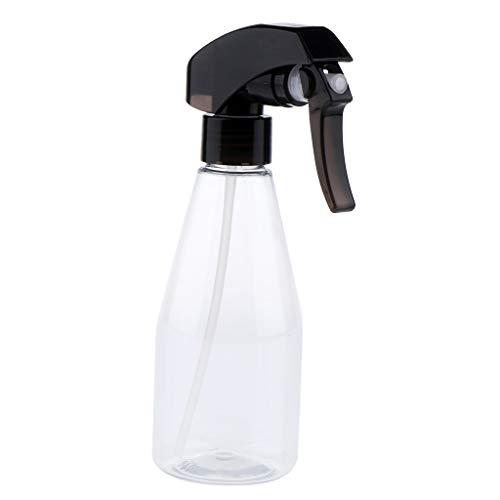 Fenteer 200ml Portable Voyage en Plastique Réutilisables Parfum Atomiseur Bouteilles Vide Pompe Vaporisateur Bouteille - Clair + noir