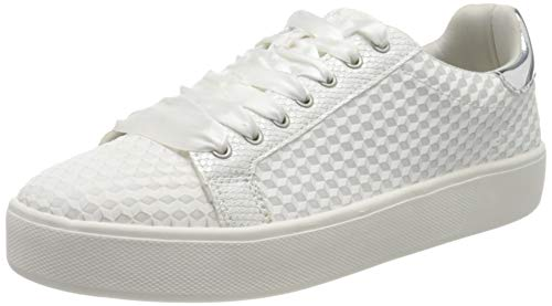 Tamaris Damen 1-1-23724-24 Sneaker, Weiß (Offwhite STR. 155), 39 EU