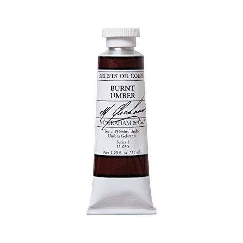 M. Graham Artist Oil Paint Burnt Umber 1.25oz/37ml Tube