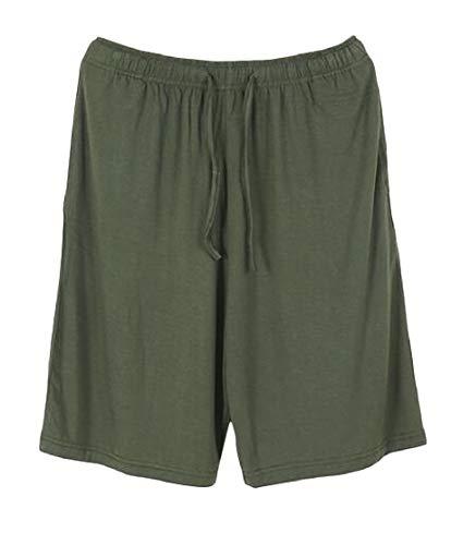 H&E Pantalones de Pijama Casuales de Verano con Cintura elástica para Hombre