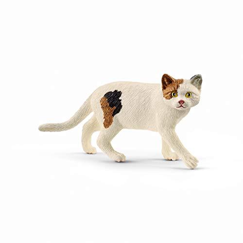 Schleich Farm World American Shorthair Cat Educational Figurine for Kids Ages 3-8