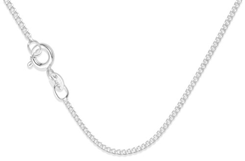 925 Sterling Silver Children's Curb chain - 14 inches (35mm) - short for children only - Good quality 1.2 gauge - Gift boxed. 8500/14