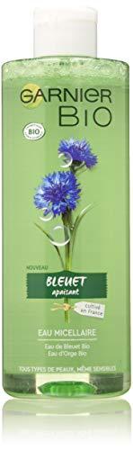 Garnier Bio – Eau Micellaire Démaquillante et Nettoyante – Eau de Bleuet Bio – Pour Peaux et Yeux Sensibles – 400 ml