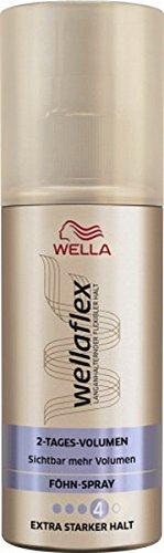 Wella Wellaflex 2-Tages-Volumen Föhn-Spray für extra starken Halt, 6er Pack (6 x 150 ml)